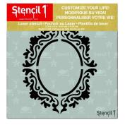 Stencil1 Rococo Frame 1 15cm X 15cm