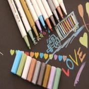 Hanperal Metallic Marker Multi-coloured Pens for Card Making Set of 10 Colours