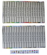 Assorted 36-colour Set of Finecolour Sketch Marker for Fashion Design with One Carrier Bag, Alcohol Based Ink, Double Ended, Cheap Art Marker Pen Alternatives for Practise