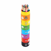 ZJKJ 12 Colour Artist Professional Fine Drawing Pencils Coloured Pencils for Writing Sketching Drawing Secret Garden with Pencil Container