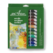 Grace Art Acrylic Paint Set - 24 Vivid Colours, 10 ML Tubes - Ideal For Beginners, Students Or Artists - Excellent Coverage On Paper, Canvas, Wood, Fabric And More .....
