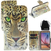 S6 Case, DRUnKQUEEn PU Leather Credit Card Holder Case Stand Feature Wallet Type Flip Folio Cover - for G920 for Samsung Galaxy S6