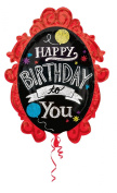 Anagram International 2900201 Chalkboard Frame Birthday Balloon Pack, 80cm