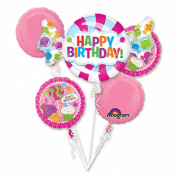 Sweet Shop Happy Birthday Foil Balloon Bouquet, Pink