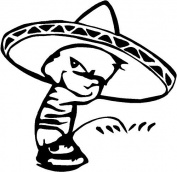 Bad Boy Decal Vinyl Sticker Pissing Calvin Mexican PISS PEE Car Truck Funny (28cm inchers