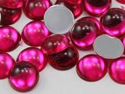 15mm Pink Fuchsia .MAR09 Flat Back Acrylic Round Cabochon High Quality Pro Grade - 30 Pieces