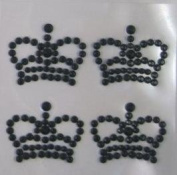 1sheet Rhinestone Crystal Crown Single Sheet Design Sticker