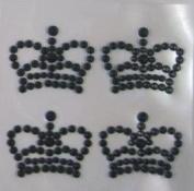 1sheet Rhinestone Crystal Crown Single Sheet Design Sticker