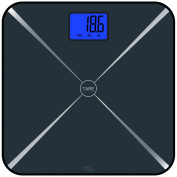 Smart Weigh Smart Tare Digital Body Weight Bathroom Scale with Large LCD Display and Tempered Glass Platform, 440lbs/200kg Capacity