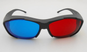 Red-blue / Cyan Anaglyph Simple style 3D Glasses 3D movie game-3D glasses for a game on the Apple TV 4