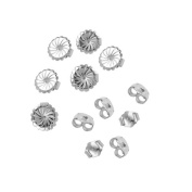6-Pair Set of Sterling Silver Earring Backs