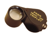 Peer Black Finish 10X Triplet Loupe