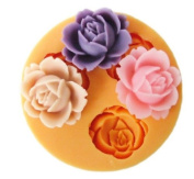 3-hole Flower Silicone Resin Clay Moulds Handmade Resin Mould Polymer Clay Mould