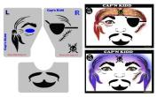 Face Painting Stencil - StencilEyes Cap'n Kidd - Pirate