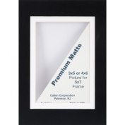 Callen DHC57-57205 Double Hand Cut Photo Mat with Bevel Edge, 13cm x 18cm , Black/White Core