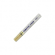 (Ship from USA) Marvy-Uchida DecoColor Glossy Oil-Based Paint Marker BROAD Point LIQUID GOLD
