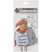 Art Impressions Halloween Cling Rubber Stamp Set, 18cm by 10cm , Tweeter