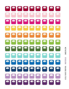 Monthly Planner Stickers Rainbow Scale Weight Stickers Planner Labels Compatible with Erin Condren Vertical Life Planner - 108 Stickers