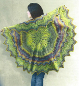 Damselfly Shawl Pattern By Myra Wood Kit Includes Yarn Place Adagio 03635 Fingering Weight Wool 10 skeins