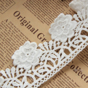 Ivory 5 Yards Grace Peony Venise Lace Dress Edge Fabric Ribbon Garter Lace Craft Home Party Decorations 6cm Wide