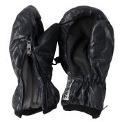 7AM Enfant Zippered Mittens, Black, Large