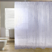 Voberry(tm)new Bath Curtain Thicken 3d Effect Water Proof Water Cube EVA Shower Curtain