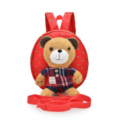 E'Plaza Cartoon Bear Baby Walking Safety Harness Leash Backpack with Reins Strap for Toddler Child