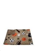 Baby Blanket Decorative Sports Theme Throw