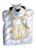 Buddies Cuddly Animal Soft Baby Blankets- Lion Taupe