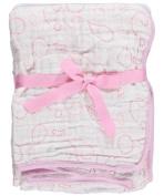 "Hudson Baby ""Circle Medley"" Layered Muslin Blanket - pink, one size"