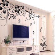 Ularmo 2015 New Hot Hee Grand Removable Vinyl Wall Sticker Mural Decal Art Flowers Vine