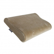 Mittagong Kids Sleeping Head Support Memory Foam Toddler Pillow with Case,Brown