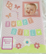 C R Gibson Sweet Girl Baby's First Memory Book