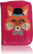 KukuBird Fox 3D Pattern Medium Size Ladies Purse Clutch Wallet