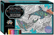 Kaleidoscope Colour-in Jigsaw with 6 Markers