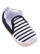 YICHUN Baby Soft Shoes Prewalker Crib Shoes Stripes Toddler Sole Shoes Leisure Shoes
