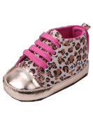 YICHUN Baby Soft Shoes Prewalker Leopard Crib Shoes Sneaker Toddler Leisure Shoes