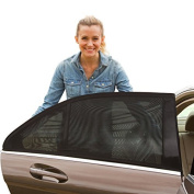 ShadeSox Universal Fit Car Side Window Baby Sun Shade - Protects Your Baby and Older Kids from the Sun, Fits All (99%) Cars! Most SUVs! Satisfaction Guaranteed (2 Piece)-BONUS Travel eBook Included!
