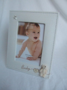 """Baby"" 3D Teddy Patterned Natural Beige 5""x7"" (18x13cms) Photo Frame"
