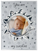 "Malden International Designs Baby Memories ""You are my Sunshine"" Two Tone Silver Picture Frame to Hold 10cm by 10cm Photo"