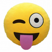 VONRAECH 32cm Emoji Smiley Emoticon Yellow Round Cushion Pillow Stuffed Plush Soft Toy