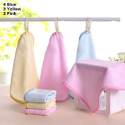2X - 10 Pack Super Soft Bamboo Baby Washcloths, Reusable Baby Wipes, 25cm x 25cm Premium Bamboo, Assorted Colours - Baby Gift/Shower - Style 3