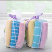 (2x) 8 Pack Super Soft Baby Washcloths, Reusable Baby Wipes, 20cm x 20cm Premium Cotton Microfiber, Assorted Colours - Baby Gift/Shower Mesh Bag Style 2