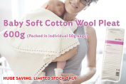 Super Soft Baby Cotton Wool Pleat | BULK PACK of 600g | Packed in Handy 50g bags