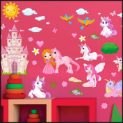 Fairies, Princesses wall Stickers Kids Children Room Wall Stickers Decal Wall Art 916