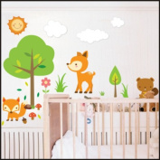 Forest Animals wall Stickers Kids Children Room Wall Stickers Decal Wall Art 909