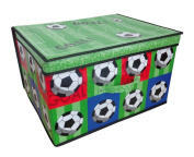 Jumbo Large Toy Book Bedding Laundry Kids Childrens Storage Box Chest - Football