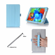 ProCase Folio Case with Stand for for Samsung Galaxy Tab 4 7.0 Tablet 2014 ( 18cm Tab 4, SM-T230 / T231 / T235), with Hand Strap, bonus stylus pen included