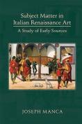 Subject Matter in Italian Renaissance Art