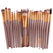 Feng Pro Wool Make Up Brush Set 20 pcs Makeup Brush Set tools Make-up Toiletry Kit